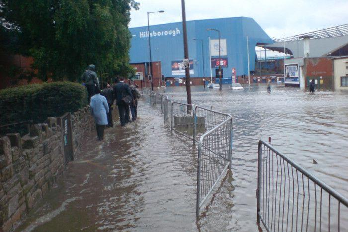 River Do, Sheffield Wed Hillsborough floods, 2007