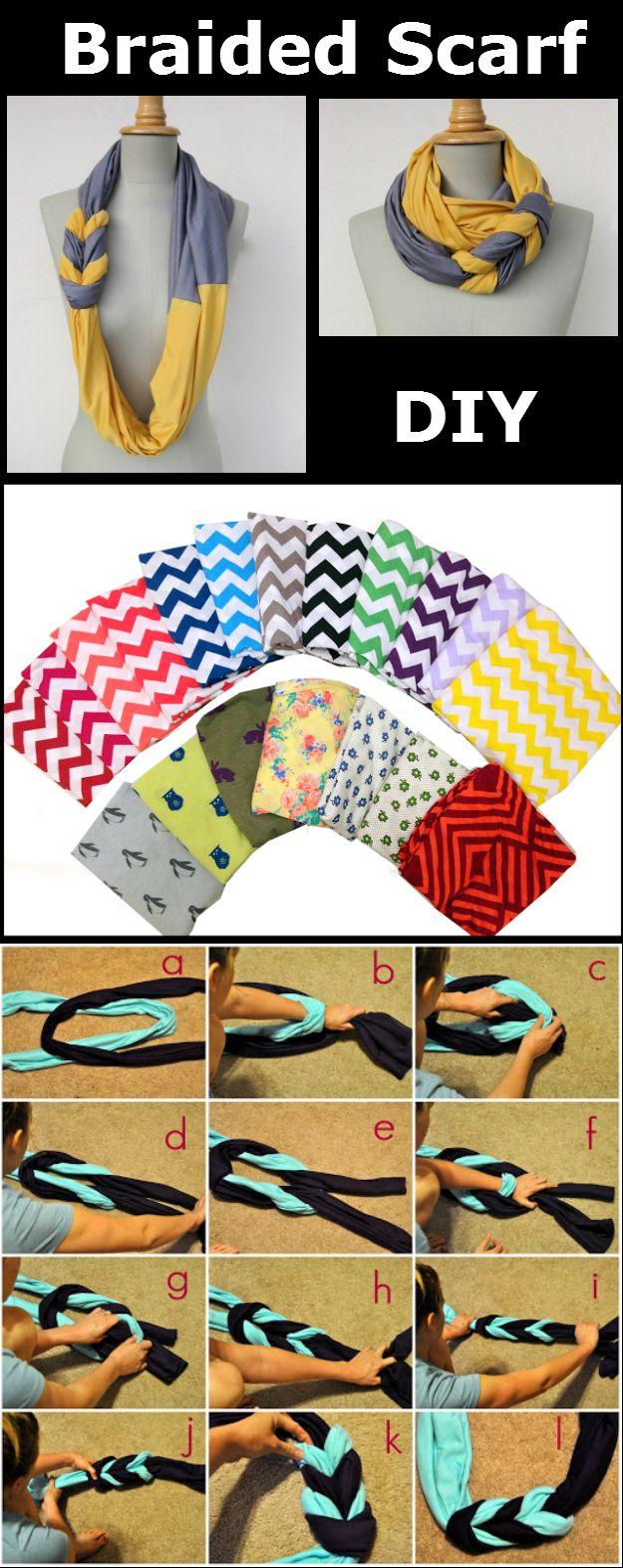 DIY Braided Scarf - http://diyideas4home.com/2013/12/diy-braided-scarf/