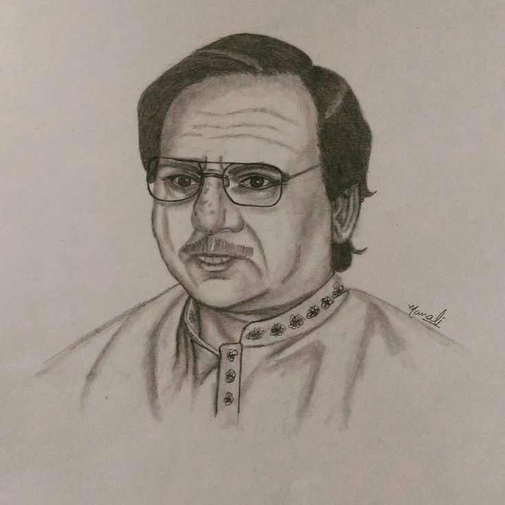 """37 Likes, 3 Comments - Dedicated to Art 🇮🇳 (@creativitytrance) on Instagram: """"Today's inspiration - My topmost & most favorite ghazal singer """"Ghulam Ali"""" Has to get sketching…"""""""