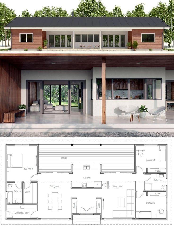 Oltre 25 fantastiche idee su planimetrie di case su for 2 camere da letto 2 bagni planimetrie della cabina di log