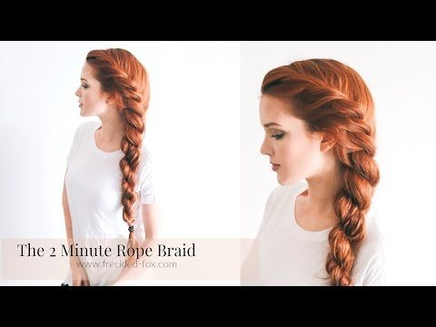 The 2 Minute Rope Braid Hairstyle | The Freckled Fox | Bloglovin'