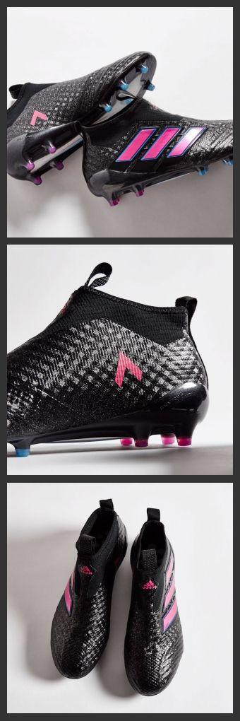 2017 Adidas ACE 17+ Purecontrol FG Nero Rosa Shock Blu,le scarpe ACE 17+ incorporano la tecnologia Boost sulla suola che crea un sistema di ammortizzazione supermorbido e offre un ritorno di energia impareggiabile per un'ottima prestazione sul campo.