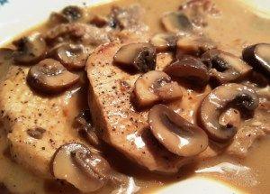 Pressure Cooker Pork Chops in Homemade Mushroom Gravy - This Old Gal