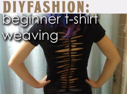 A fun and easy way to add some attitude to your wardrobe... T-shirt weaving! Learn how to replicate the style on your own snazzy threads.