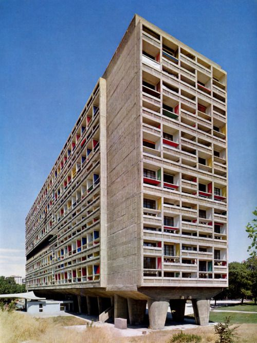 Unite d'Habitation, Marseille, 1952,     Le Corbusier    (via designcouncil)