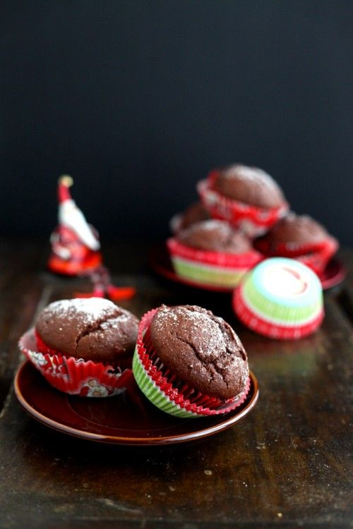 Kakaós muffin mogyorókrémmel