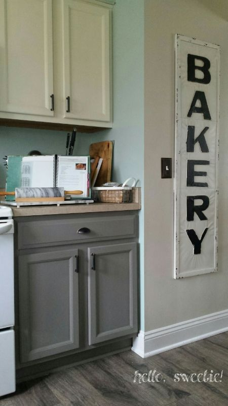Kitchen cabinet revamp french linens linens and annie Revamp old kitchen cabinets