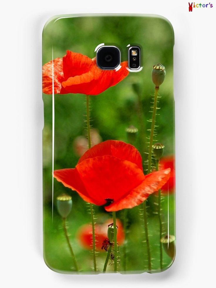 Red poppy Samsung case on Redbubble. You can also buy this print as a wall art, home decor, clothing or accessories.