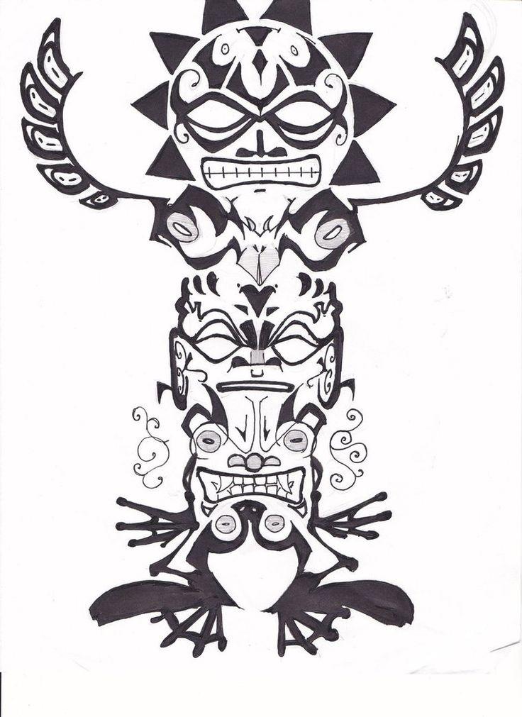 Totem Tattoo Designs Madscar Totem Tattoo Totem Pole