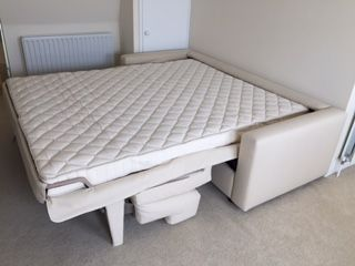 Large Double 160 Cm X 200 Pocket Sprung Mattress Total Clearance Of 210 Needed Plus Room To Stand In Front Bend Down Close It When The Sofa
