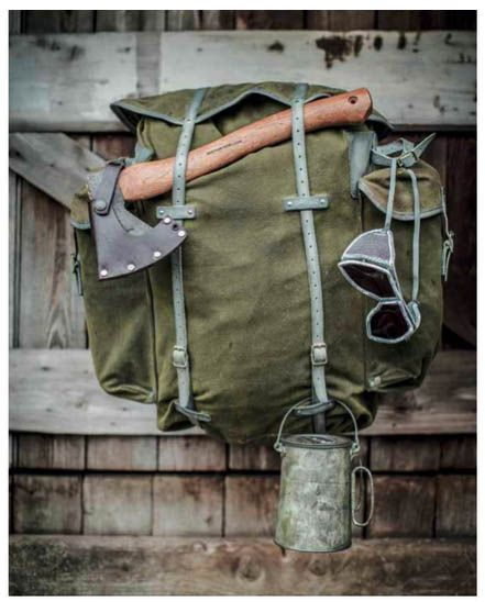 Wynnchester Telemark Rucksack - Reconditioned canvas & leather Norwegian Army Bergen