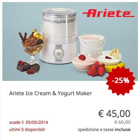 #Ariete Ice Cream & Yogurt Maker