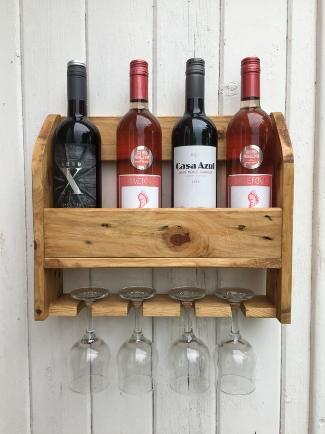 Wine Bottle and Glass Holder £24.95