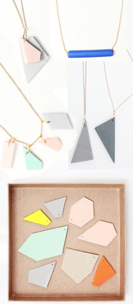 Simple, geometric jewelry designs by WEEKDAYCARNIVAL. Prices range from €11.00-€17.00.