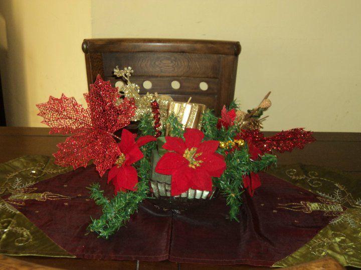 flores navideñas centro de mesa