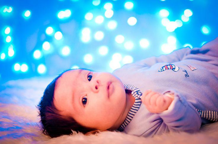bebe fotografia con luces