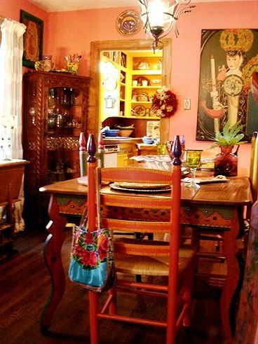 17 best images about mexican bohemian decor on pinterest for Mexican dining room ideas