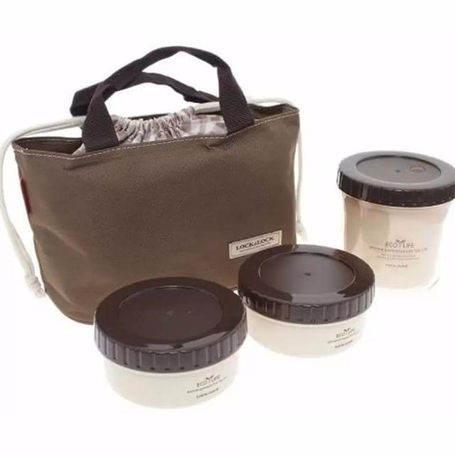 Nama Produk Lock N Lock Round Lunch Box Set Size L Brown Brown