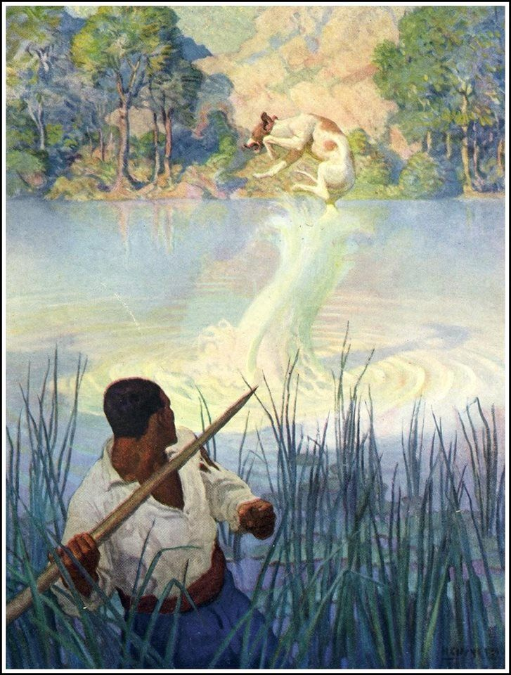 """NC Wyeth, book illustration from """"The Mysterious Island"""""""