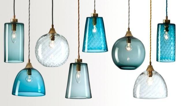 Blue Glass Pendant Lights Australia Blown Lighting Stylish Bickers
