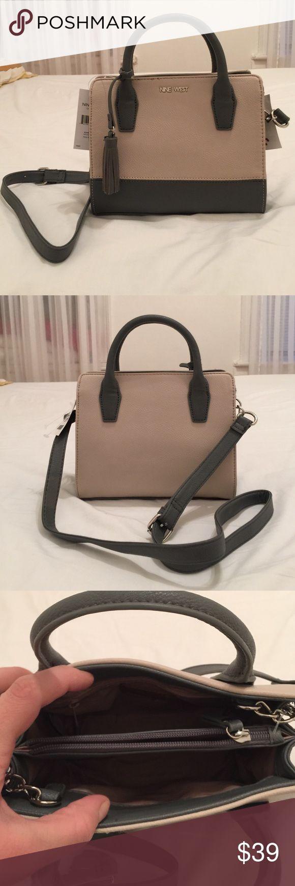 Nine West handbag brand new!final price Beautiful little leather Nine West hand-shoulder bag Nine West Bags Shoulder Bags