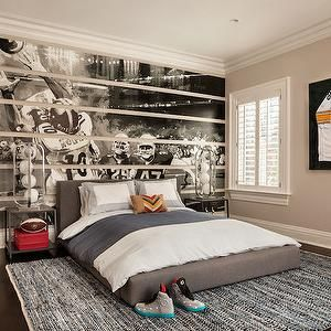Garrison Hullinger Interior Design - boy's rooms - football themed room