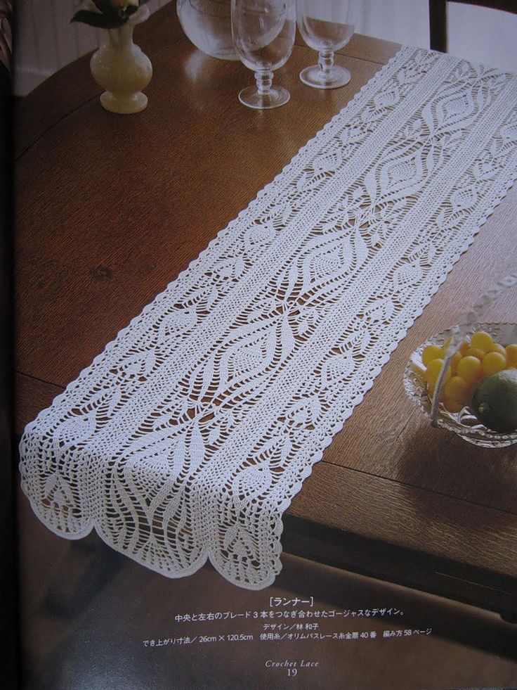 Table Runner With Diagram Crochet Tablecloths Pinterest
