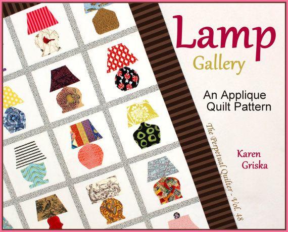 Lamp Gallery Quilt Pattern Applique Quilt by KarenGriskaQuilts
