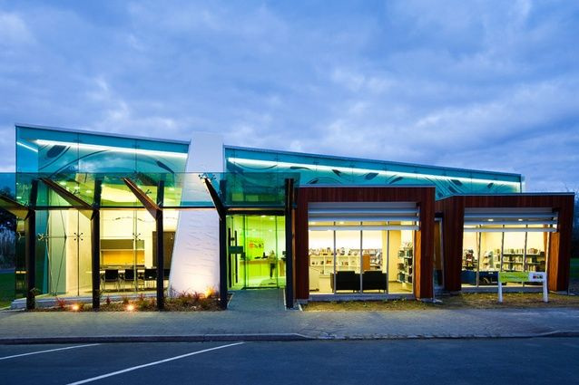 """Te Kauwhata Library, New Zealand. Award winning design by Opus Architecture. """"good architecture should be robust and enduring, but should also delight and inspire people"""". EA."""