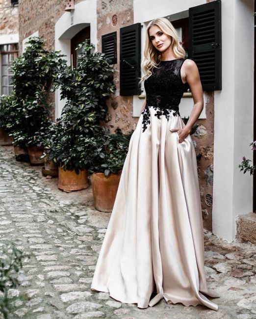 Günstige Abendkleider Lang Schwarz | Abiballkleider mit ...