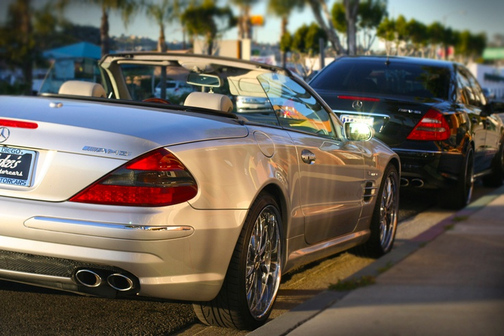 Oh Lord won't you buy me a Mercedes Benz.  My friends all drive Porches, I must make amends.  Worked hard all my lifetime with no help from my friends, oh Lord won't you buy me a Mercedes Benz or two...  2007 SL55 and 2005 E55 AMG's