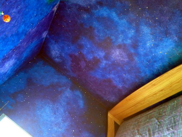 Picture of How to paint a star/night-sky themed nursery that will last until high school. http://www.instructables.com/id/How-to-paint-a-starnight-sky-themed-nursery-that-w/