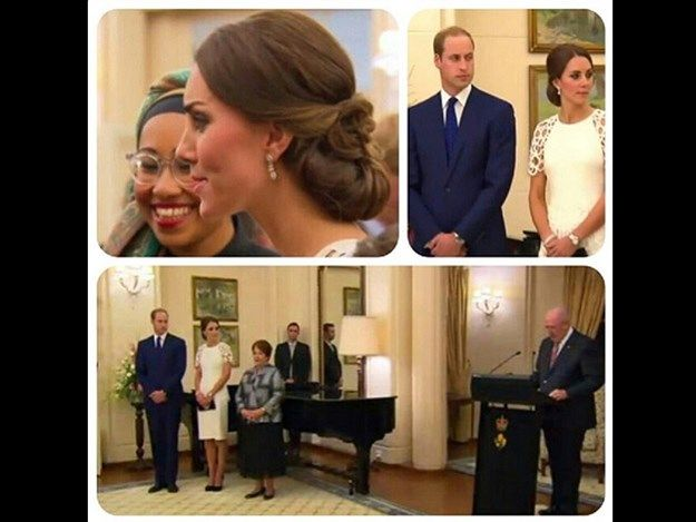 Attending the reception with the Royal couple are 100 guests from the arts, business, conservation & sports. Photo: lynetter1984 via Instagram