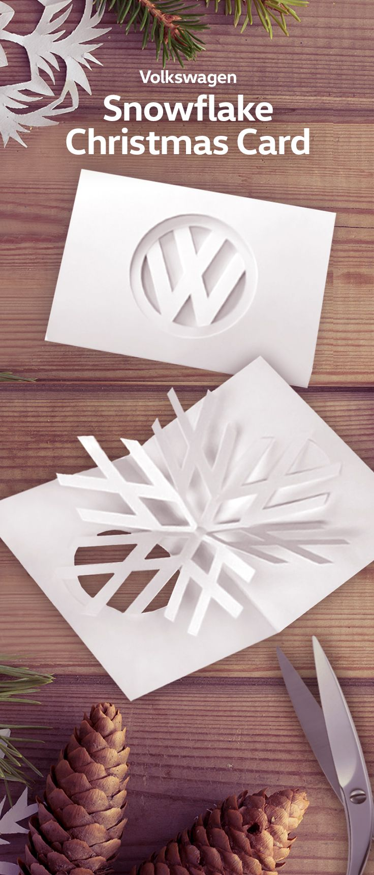 It's wonderful to show your loved ones how much they mean to you. Just a few words on a beautiful card can mean the world and Volkswagen invites you to create your own Volkswagen Snowflake Christmas card! You can download the instructions here: http://volkswagen.com/christmas-card.