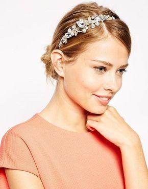 ASOS Butterfly Gem Headband - Gold
