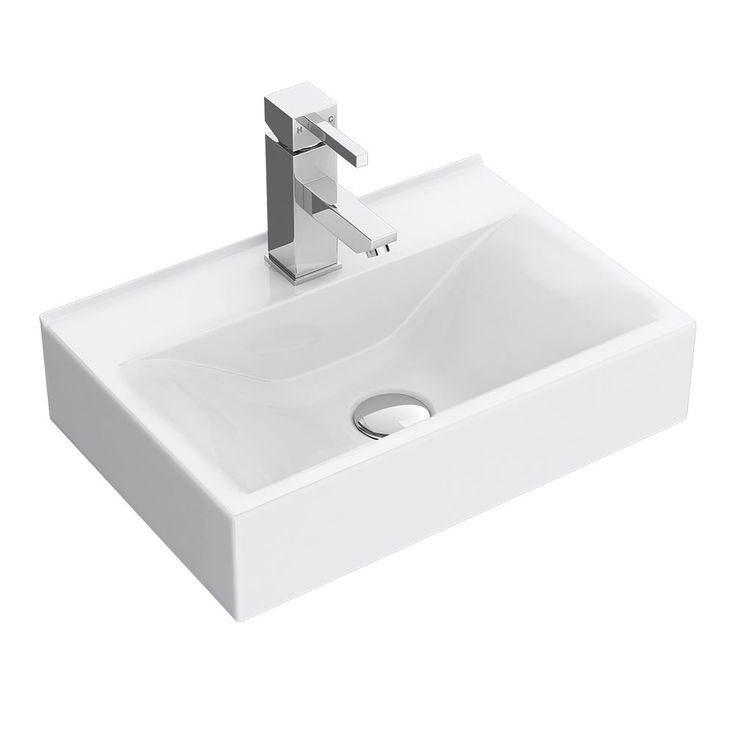 Browse the Kyoto Rectangular Wall Hung Basin. Perfect for those modern, minimalist settings. Now available online from Victorian Plumbing.co.uk.
