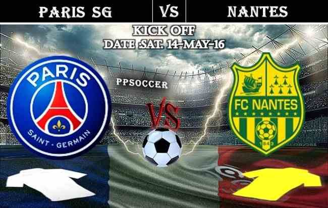 Paris SG vs Nantes 14.05.2016 Free Soccer Predictions, head to head, preview, predictions score, previus meeting last 6 matches France Ligue 1
