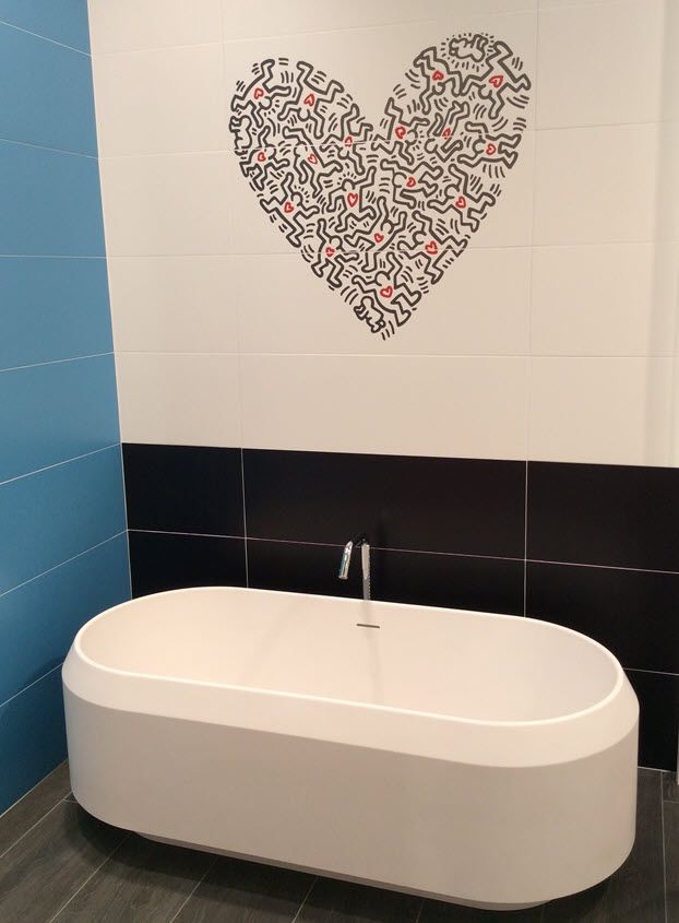 Shades Of Red Tile For Valentine S Day Red Tiles Shades Of Red Black And White Tiles