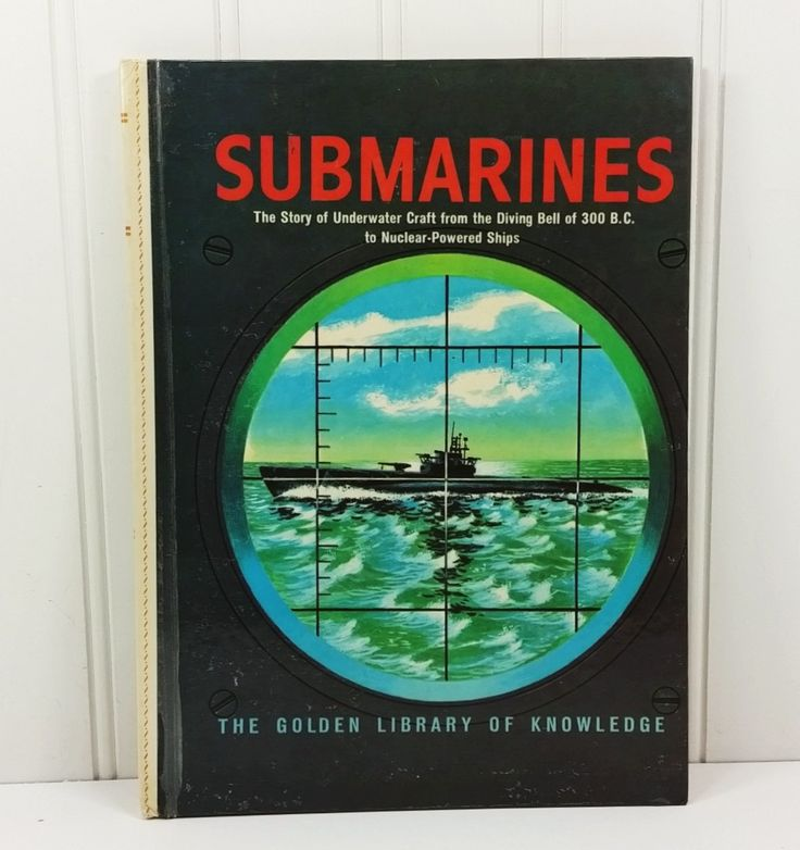 Submarines The Story of Underwater Craft by Edward Stephens, 1962 Golden Library of Knowledge 7815 by naturegirl22 on Etsy
