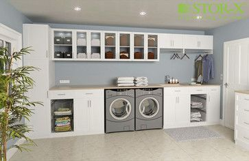 small laundry room storage ideas | Laundry Room contemporary closet organizers