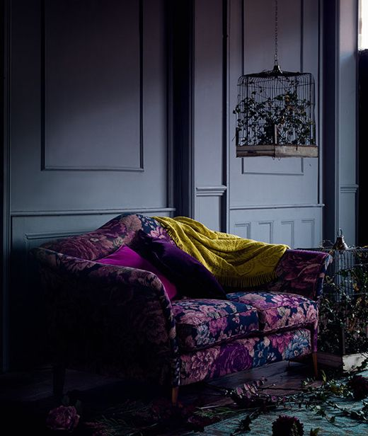 Love the moody upholstery on this piece from Marks & Spencer F/W 2015 collection