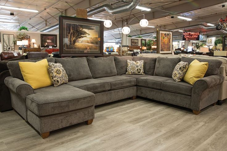 Stanton 320 Cornell Pewter 3 Piece Sectional Family