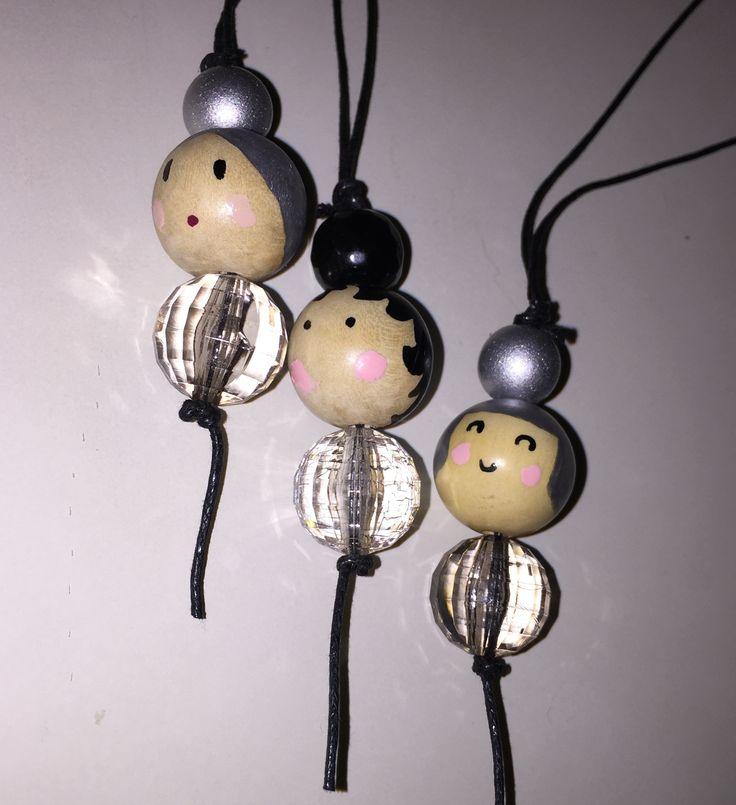 "Doll necklace ""transparent"" collana bambola"