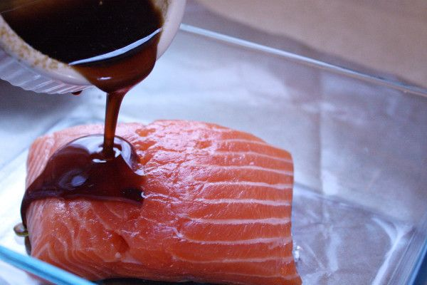Maple Glaze Garlic Oil infused Salmon: Kate Scarlatta