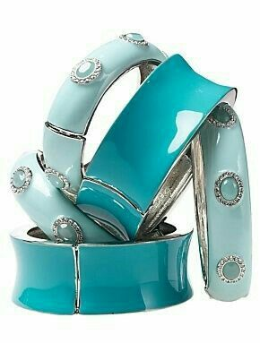 Tiffany blue...turquoise too!