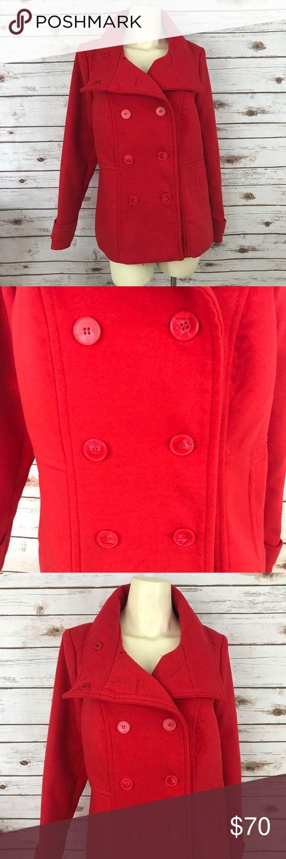 Torrid NEW red double breast Pea Coat size 0 New with tags Torrid red Pea Coat torrid Jackets & Coats Pea Coats