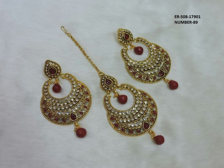 TIKKA & EARRING SET  Check us out @ https://www.facebook.com/indianfashionjewelries/