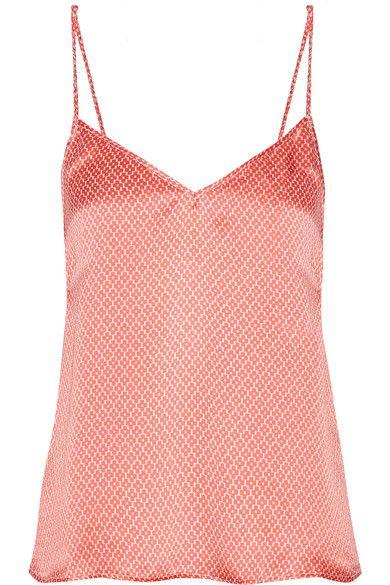 Paloma Blue - Capri Printed Silk-satin Camisole - Coral -