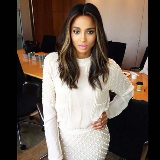 This is great because it just puts some Lightness around your face! -Ciara.. hair color