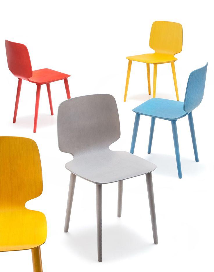 BABILA - dřevěná jídelní židle, výrobce Pedrali